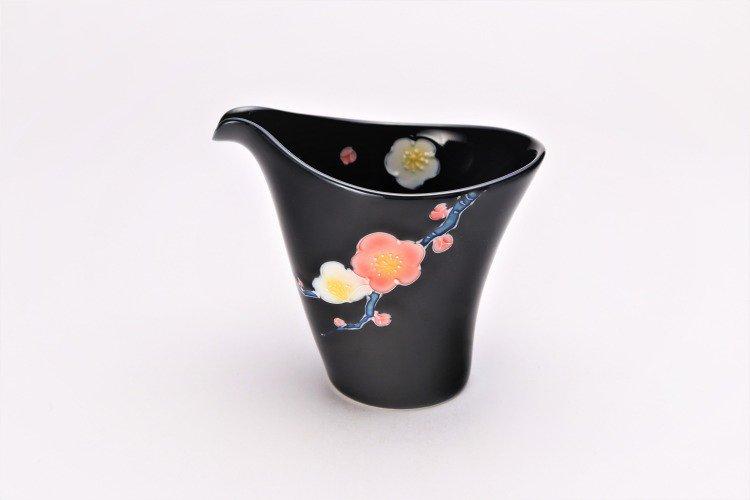 文山窯 黒釉花 片手酒器 画像メイン