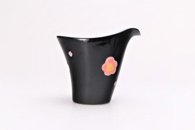 文山窯 黒釉花 片手酒器 画像サブ3