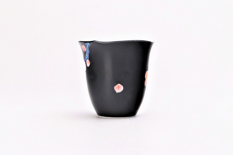 文山窯 黒釉花輪花 ミニカップ 画像サブ2