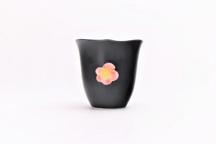 文山窯 黒釉花輪花 ミニカップ 画像サブ3