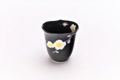 黒釉花輪花 ミニカップ