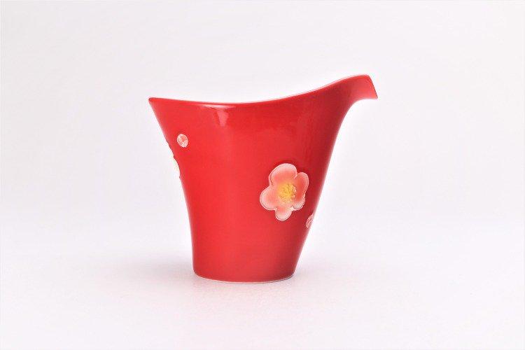 文山窯 赤釉花 片手酒器セット 画像サブ4