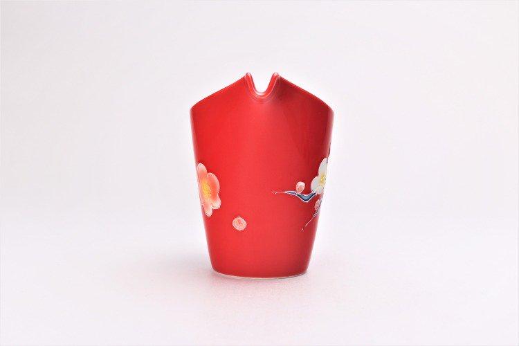 文山窯 赤釉花 片手酒器セット 画像サブ5