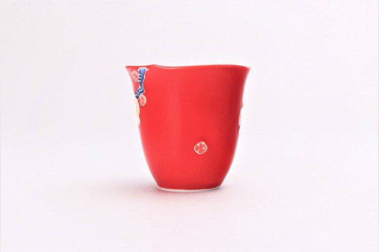 文山窯 赤釉花輪花 ミニカップ 画像サブ2
