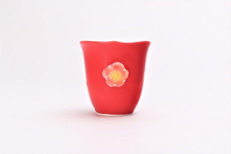 文山窯 赤釉花輪花 ミニカップ 画像サブ3