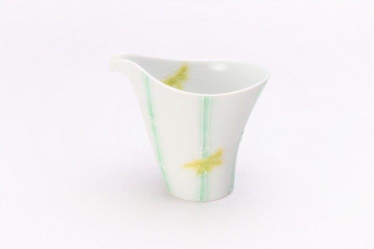 文山製陶 白釉竹 片手酒器 画像メイン