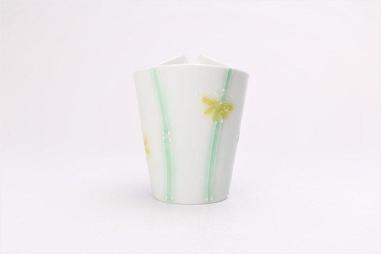 文山製陶 白釉竹 片手酒器 画像サブ2