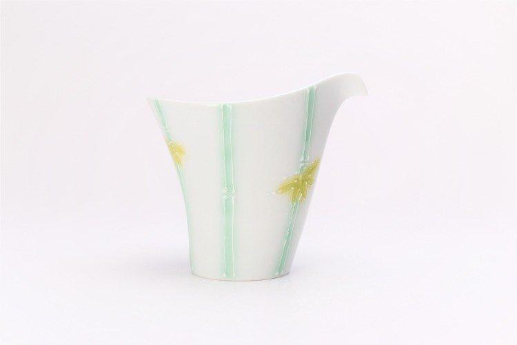 文山製陶 白釉竹 片手酒器 画像サブ3