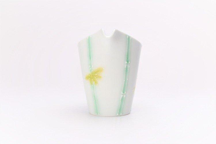 文山製陶 白釉竹 片手酒器 画像サブ4