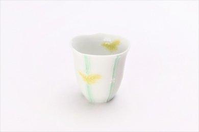 文山製陶 白釉竹輪花 ミニカップ