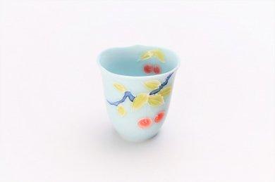 文山製陶 青磁果実輪花 ミニカップ
