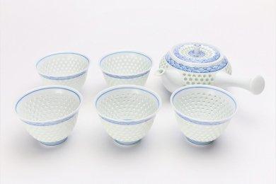 水晶青海波 茶器セット
