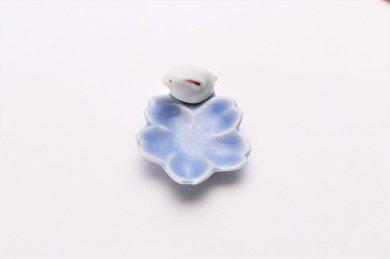 桜うさぎ 箸置 ブルー