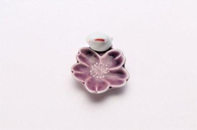 桜うさぎ 箸置 パープル