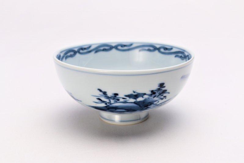 亮秀窯古代山水 組飯碗 画像サブ1