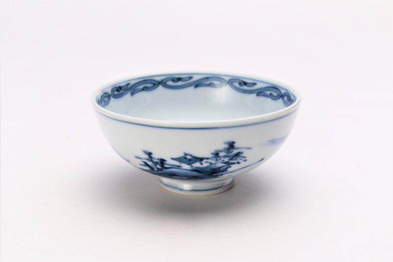 亮秀窯古代山水 組飯碗 画像サブ2