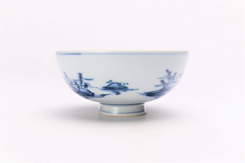 亮秀窯古代山水 組飯碗 画像サブ6