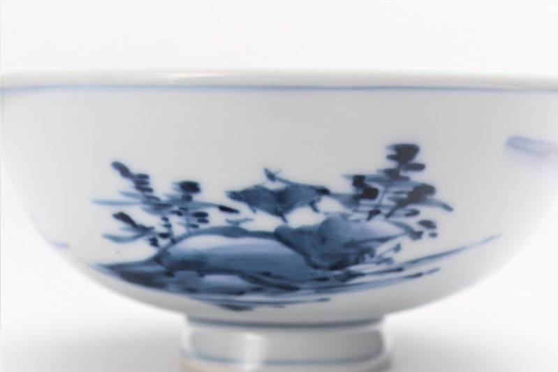 亮秀窯古代山水 組飯碗 画像サブ7