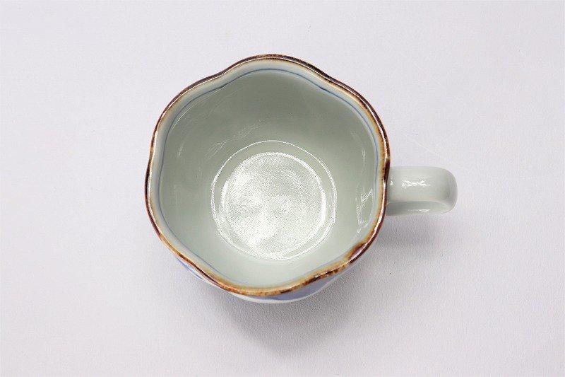 福泉窯 染付松竹梅 花びら型コーヒーC/S 画像サブ5