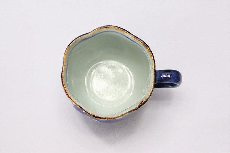 福泉窯 染付桜濃 花びら型コーヒーC/S 画像サブ5