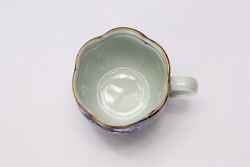 福泉窯 染付濃唐花 花びら型コーヒーC/S 画像サブ5