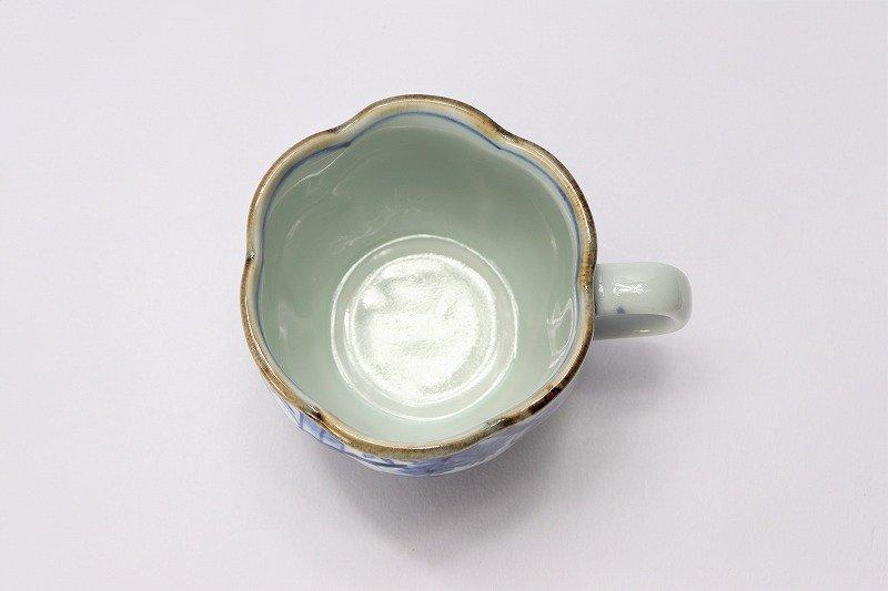 福泉窯 染付竹間取松竹梅 花びら型コーヒーC/S 画像サブ5