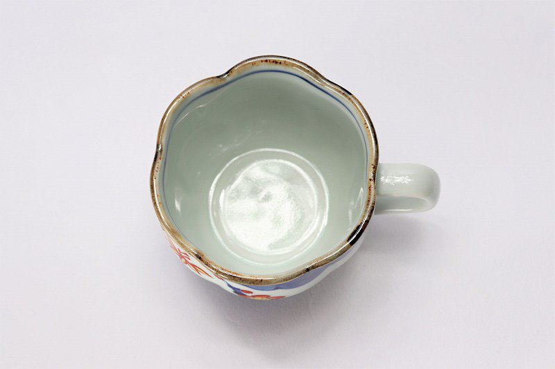 福泉窯 染錦松竹梅 花びら型コーヒーC/S 画像サブ5