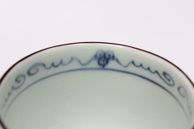 福泉窯 染錦ぶどう総柄(紫) 三ツ足コーヒーC/S 画像サブ5