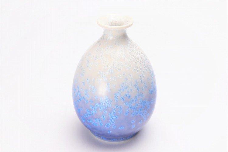 真右ェ門窯 藍染水滴 半酒器(木箱付) 画像サブ2