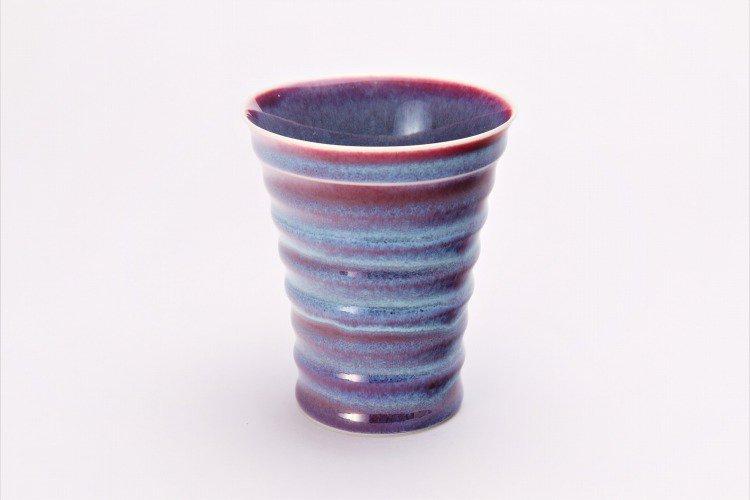 真右ェ門窯 彩雲 段付酒杯(木箱付) 画像サブ1