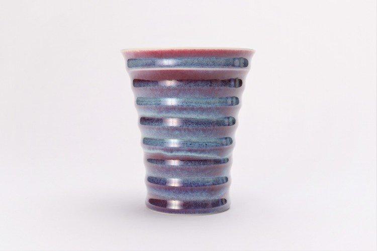 真右ェ門窯 彩雲 段付酒杯(木箱付) 画像サブ2