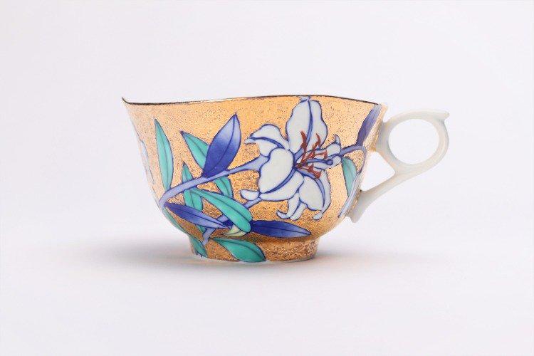 金龍窯 金彩百合 コーヒー碗(木箱付) 画像サブ2
