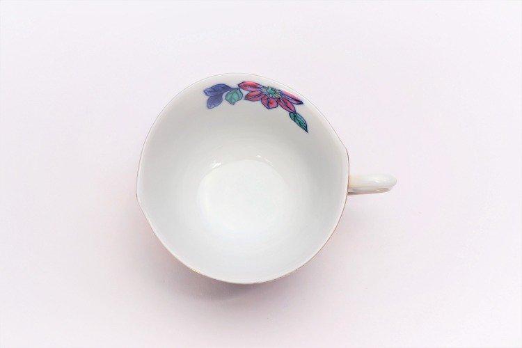 金龍窯 金彩鉄仙花 コーヒー碗(木箱付) 画像サブ7