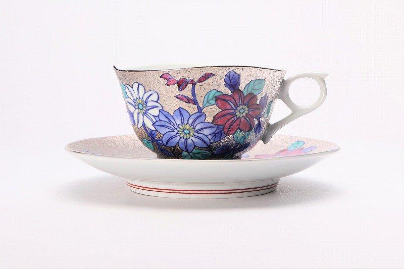 金龍窯 プラチナ鉄仙花 コーヒー碗(木箱付) 画像サブ2