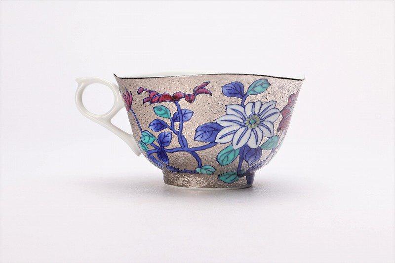 金龍窯 プラチナ鉄仙花 コーヒー碗(木箱付) 画像サブ5