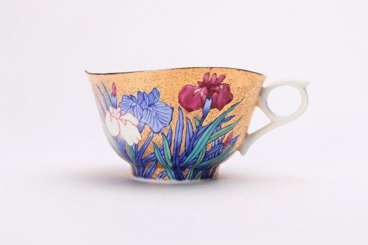 金龍窯 金彩菖蒲 コーヒー碗(木箱付) 画像サブ2