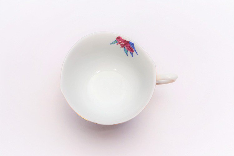 金龍窯 金彩菖蒲 コーヒー碗(木箱付) 画像サブ6