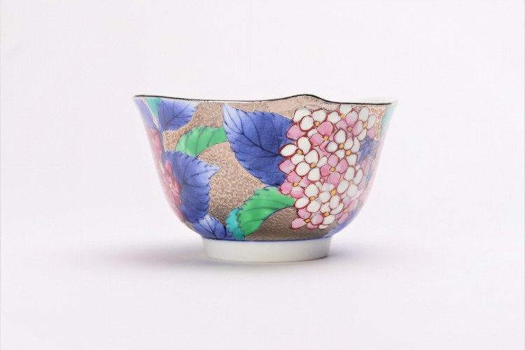 金龍窯 プラチナ紫陽花 コーヒー碗(木箱付) 画像サブ3