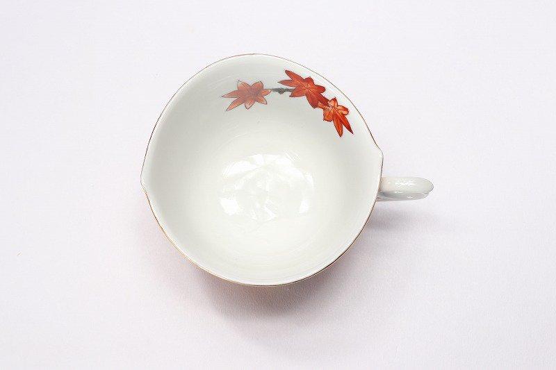 金龍窯 金彩紅葉 コーヒー碗(木箱付) 画像サブ5