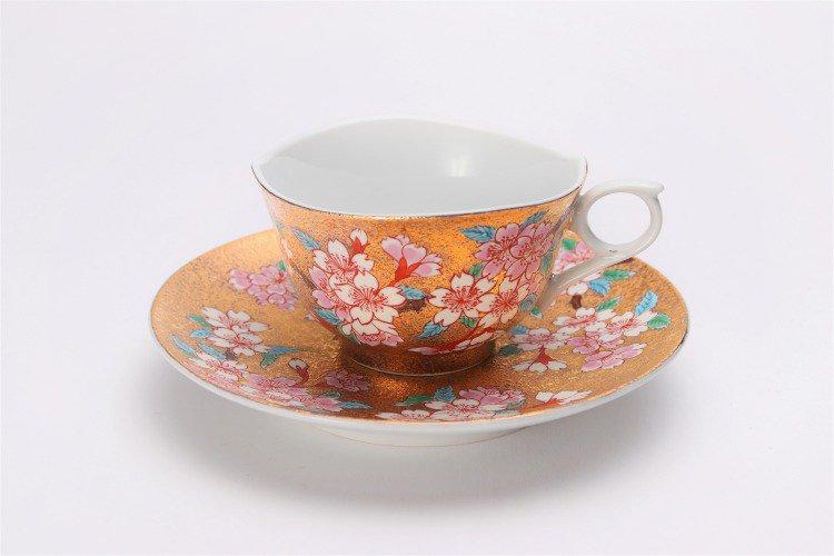 金龍窯 金彩桜 コーヒー碗(木箱付) 画像サブ1