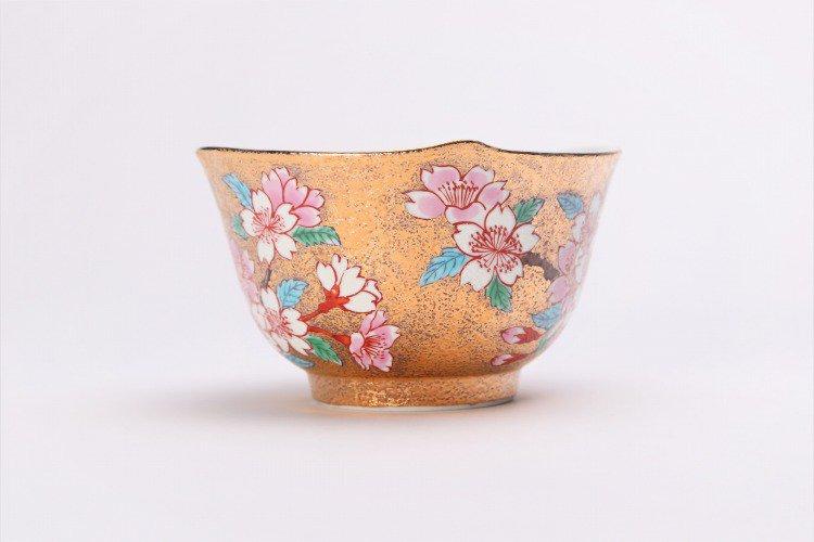 金龍窯 金彩桜 コーヒー碗(木箱付) 画像サブ3