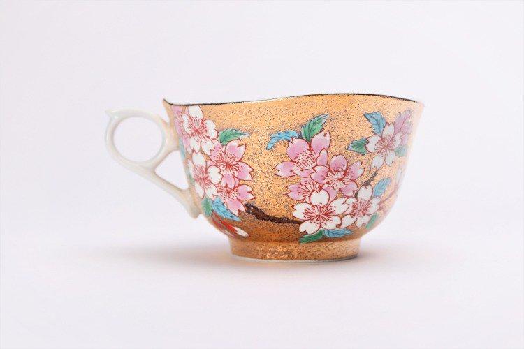 金龍窯 金彩桜 コーヒー碗(木箱付) 画像サブ4