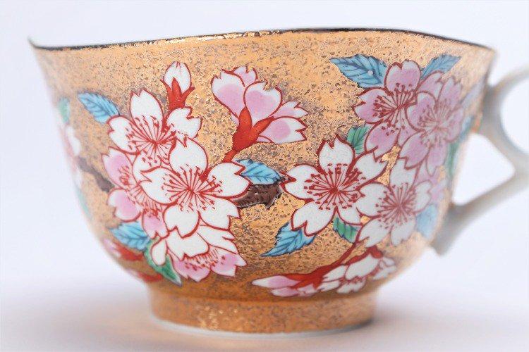 金龍窯 金彩桜 コーヒー碗(木箱付) 画像サブ5