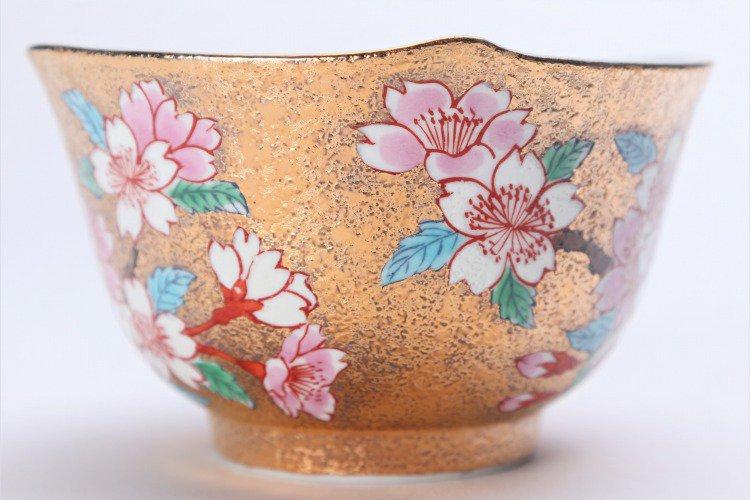 金龍窯 金彩桜 コーヒー碗(木箱付) 画像サブ6