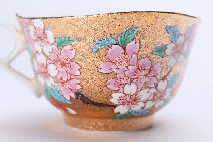金龍窯 金彩桜 コーヒー碗(木箱付) 画像サブ7