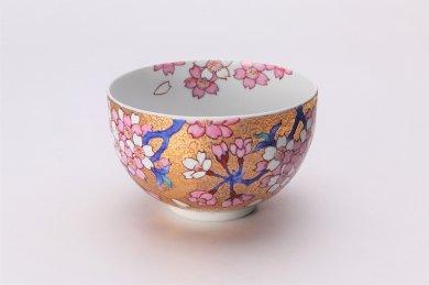 金龍窯 金彩桜 抹茶碗(木箱付)