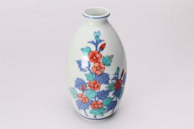 今右衛門窯 立葵絵花瓶