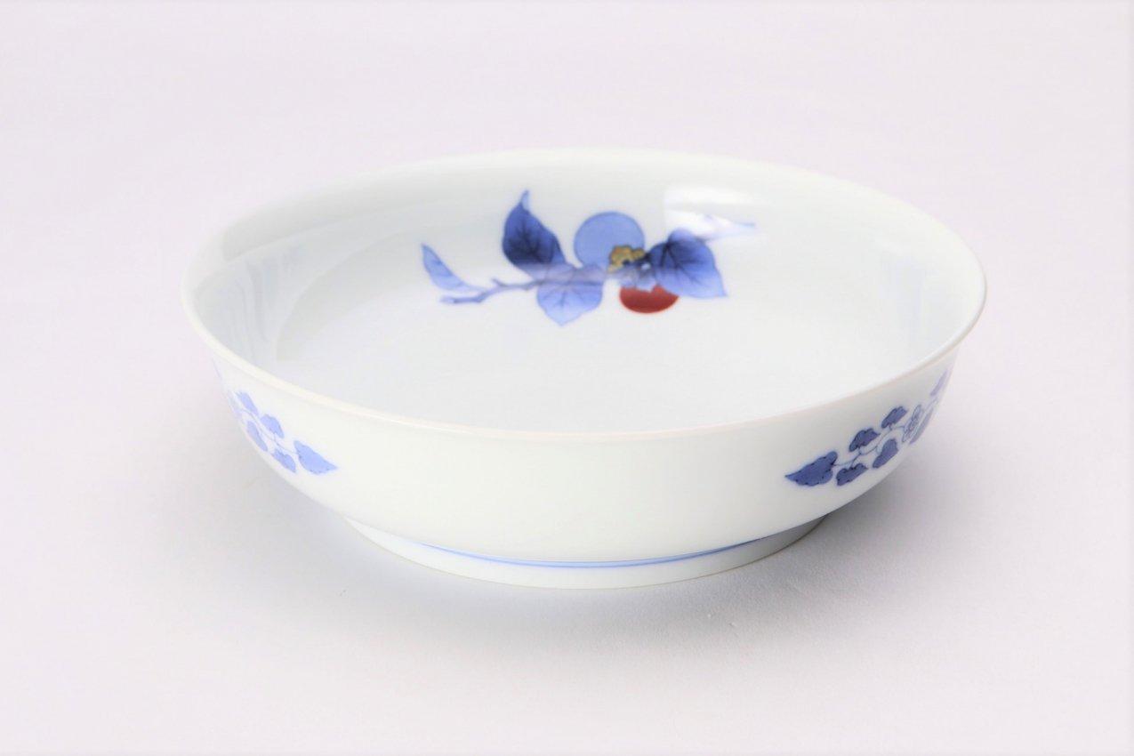 柿右衛門窯 鉢6寸染錦柿文