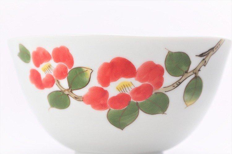 誕生花シリーズ 赤椿 茶碗・湯呑セット (1月誕生花)(化粧箱入り) 画像サブ3