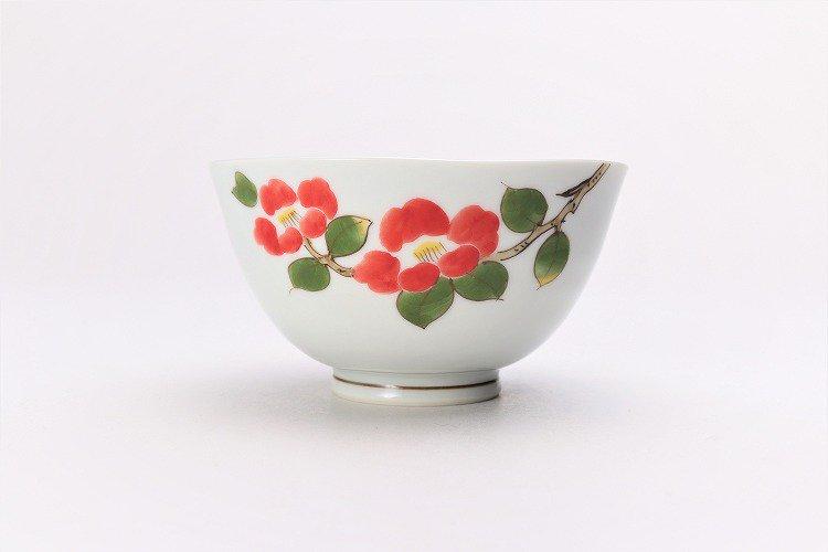 誕生花シリーズ 赤椿 茶碗 (1月誕生花) 画像サブ1